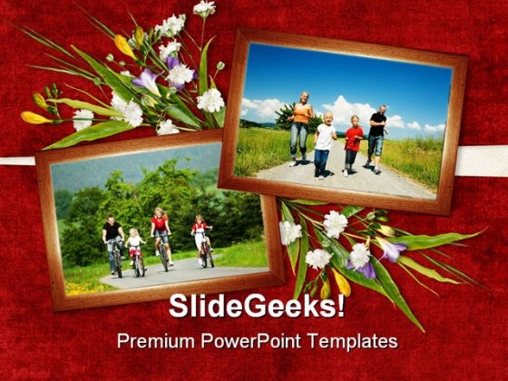 Card For Family Health PowerPoint Themes And PowerPoint Slides 0311