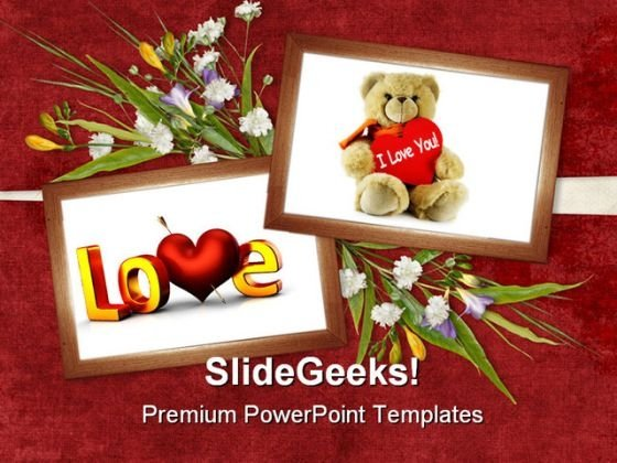Card For Valentine Day Youth PowerPoint Templates And PowerPoint Backgrounds 0311