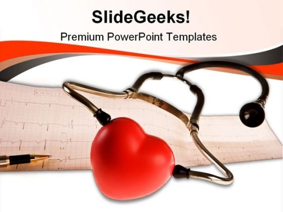 Cardiogram Medical PowerPoint Template 0910