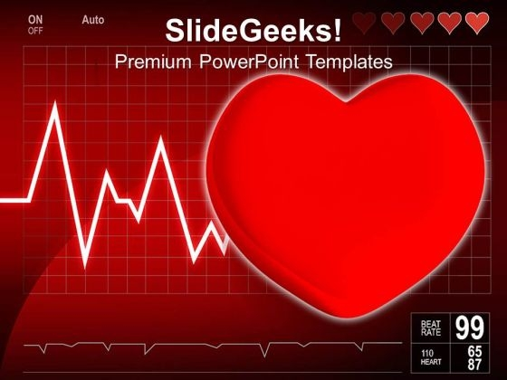 Cardiogram With Heart Medical PowerPoint Templates Ppt Backgrounds For Slides 0213
