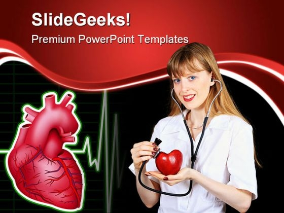 Cardiologist Doctor Medical PowerPoint Backgrounds And Templates 0111