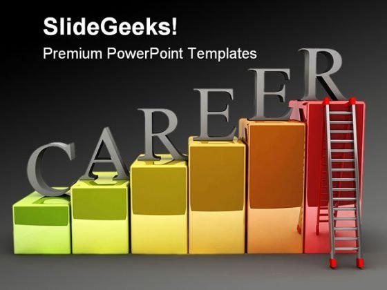 Career Ladder Education PowerPoint Backgrounds And Templates 0111
