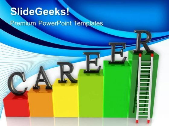 Career Ladder Success PowerPoint Templates And PowerPoint Themes 0512