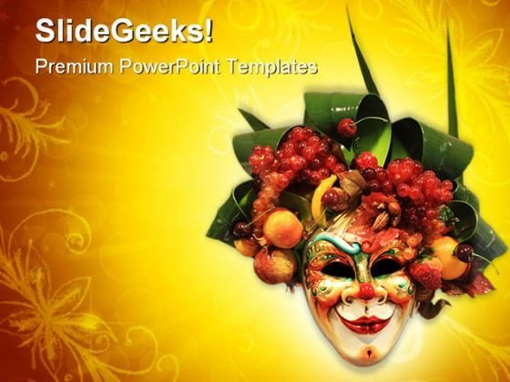Carnival Mask Art PowerPoint Templates And PowerPoint Backgrounds 0411