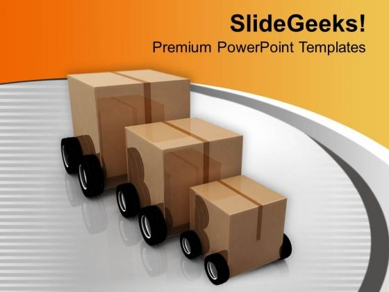 Cart From Small Too Big Transportation PowerPoint Templates Ppt Backgrounds For Slides 0413