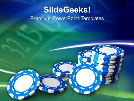 Casino Chips Theme Game PowerPoint Templates Ppt Backgrounds For Slides 0413