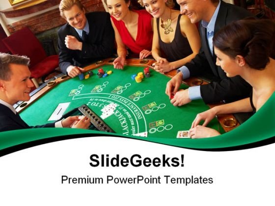 Casino Friends Game PowerPoint Themes And PowerPoint Slides 0511
