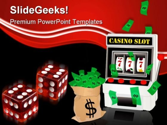 Casino Winner Game PowerPoint Templates And PowerPoint Backgrounds 0411