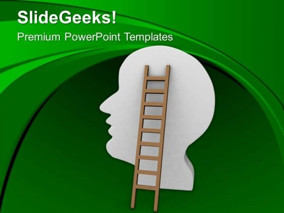 Catch The Ladder Of Brain PowerPoint Templates Ppt Backgrounds For Slides 0513
