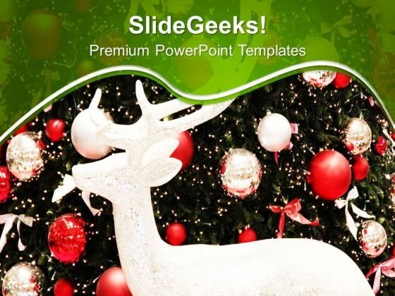 Celebrate Christmas With Beautiful Decoration PowerPoint Templates Ppt Backgrounds For Slides 0613