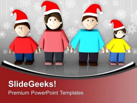 Celebrate Christmas With Family PowerPoint Templates Ppt Backgrounds For Slides 0413