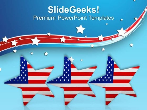 Celebration Of American Independence PowerPoint Templates Ppt Backgrounds For Slides 0813