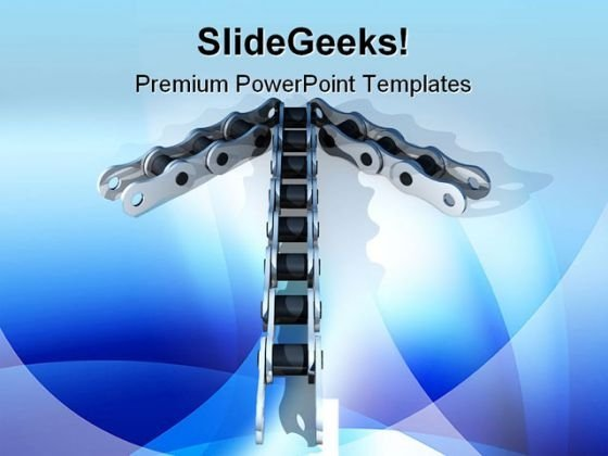 Chain Arrows Industrial PowerPoint Themes And PowerPoint Slides 0611