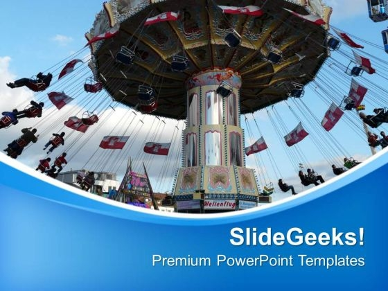 Chain Carousel Finance Theme PowerPoint Templates Ppt Backgrounds For Slides 0413