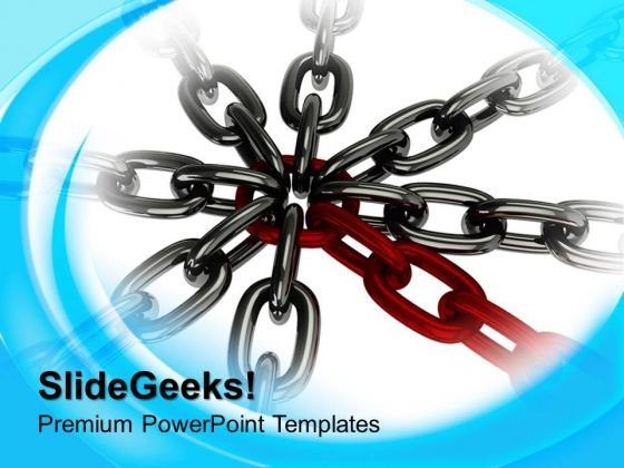 Chain Cross Business Security PowerPoint Templates And PowerPoint Themes 1012