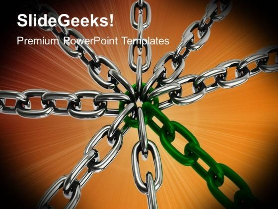 Chain Cross PowerPoint Templates And PowerPoint Themes 1012