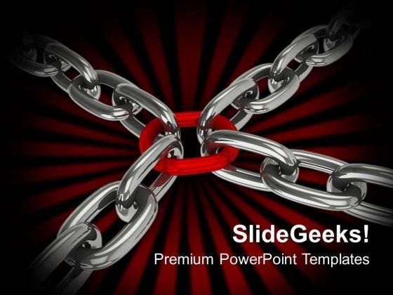 Chain Cross Security Leadreship PowerPoint Templates And PowerPoint Themes 1012