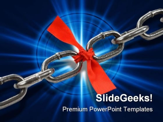 Chain Link Business PowerPoint Template 0810