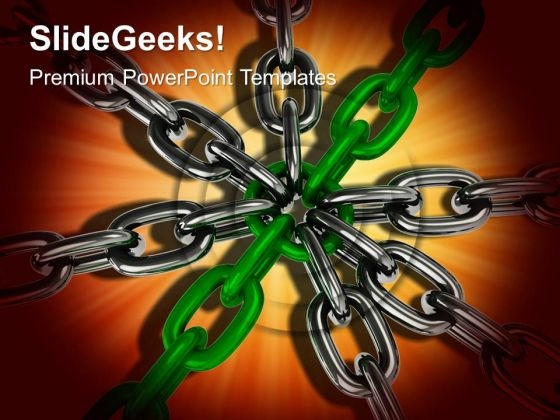 Chain Security Teamwork PowerPoint Templates And PowerPoint Themes 0612