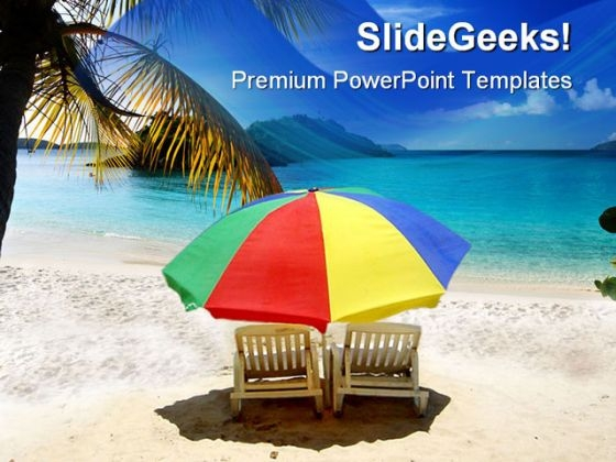 Chairs At Beach Nature PowerPoint Themes And PowerPoint Slides 0611
