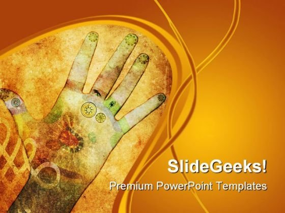 Chakra Hands Health PowerPoint Templates And PowerPoint Backgrounds 0711