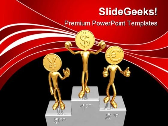 Champions Podium Success PowerPoint Themes And PowerPoint Slides 0611