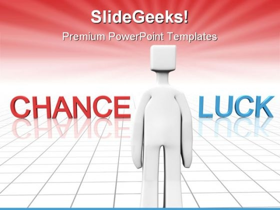 Chance And Luck People PowerPoint Template 0910