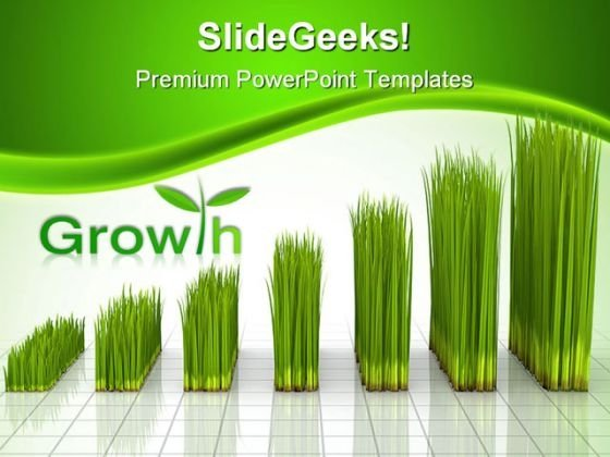 Chart Created With Green Grass Nature PowerPoint Themes And PowerPoint Slides 0211