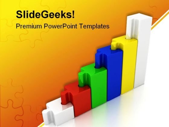 Chart Growth Business PowerPoint Template 1110