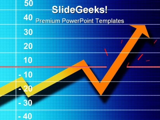 Chart With Up Arrow Business PowerPoint Templates And PowerPoint Backgrounds 0611