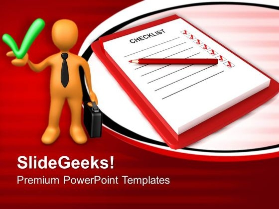Check List Business PowerPoint Templates And PowerPoint Themes 0712
