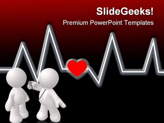 Checking Heartbeat Medical PowerPoint Templates And PowerPoint Backgrounds 0611