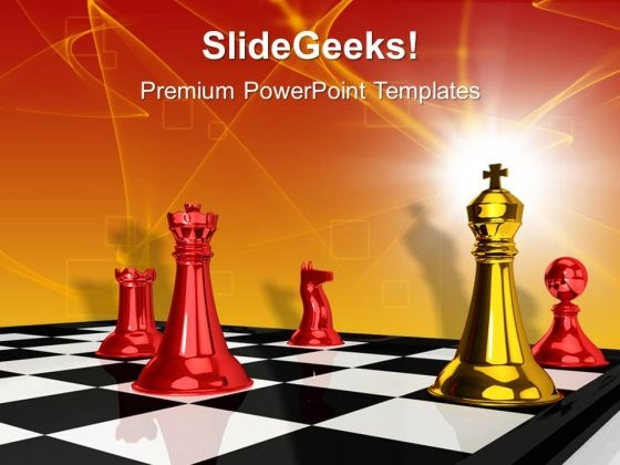 Checkmate Game Leadership PowerPoint Templates And PowerPoint Themes 1012
