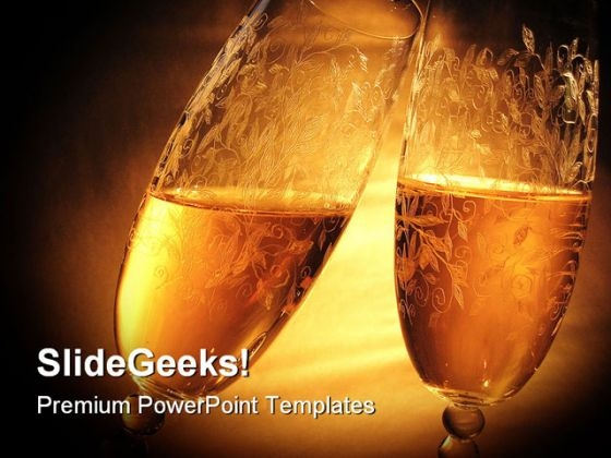 Cheers Festival PowerPoint Themes And PowerPoint Slides 0411