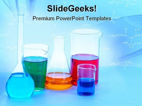 chemical glassware science powerpoint templates and powerpoint, Modern powerpoint
