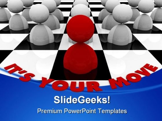 Chess Board Game PowerPoint Templates And PowerPoint Backgrounds 0311