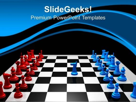 Chess Challenge Competition PowerPoint Templates And PowerPoint Themes 0912
