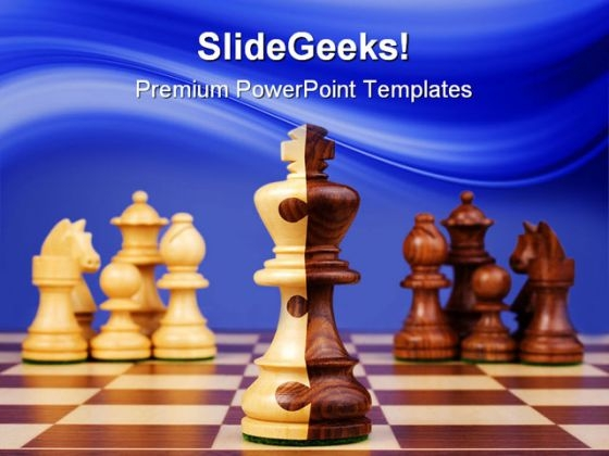 Chess Corporate Merger Game PowerPoint Templates And PowerPoint Backgrounds 0211
