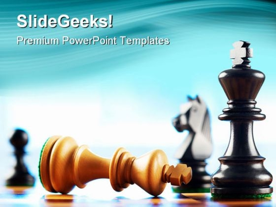 Chess Defeats Game PowerPoint Templates And PowerPoint Backgrounds 0211