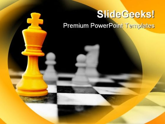 Chess King Game PowerPoint Templates And PowerPoint Backgrounds 0211