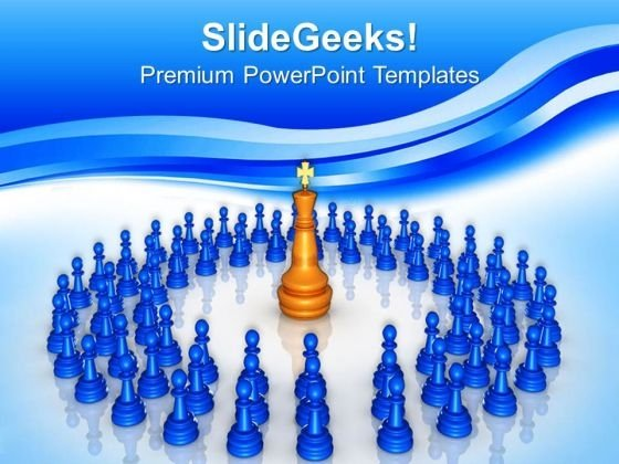 Chess King Leadership PowerPoint Templates And PowerPoint Themes 0612