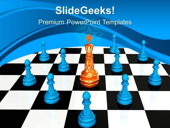 Chess King Leadership PowerPoint Templates And PowerPoint Themes 0712