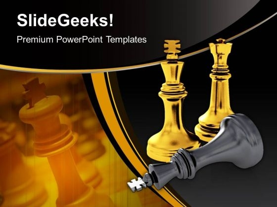 Chess Pieces Game Leadership PowerPoint Templates And PowerPoint Themes 1012