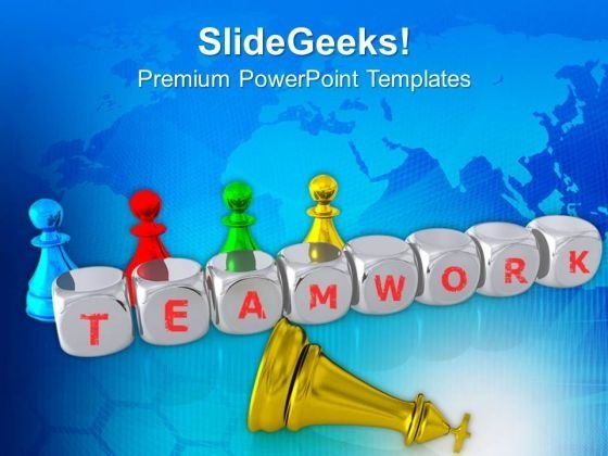 Chess Pieces With Word Teamwork PowerPoint Templates Ppt Backgrounds For Slides 0713