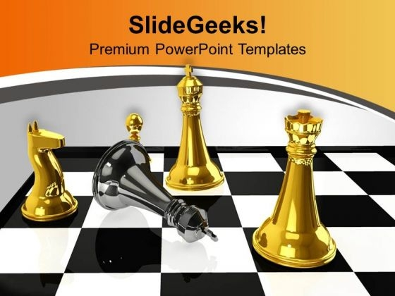 Chess Winner Defeated By Black King PowerPoint Templates Ppt Backgrounds For Slides 0313