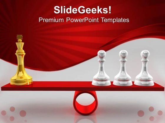 Chessmen On Scales Competition PowerPoint Templates And PowerPoint Themes 0612