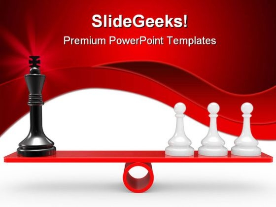 Chessmen On Scales Game PowerPoint Templates And PowerPoint Backgrounds 0211