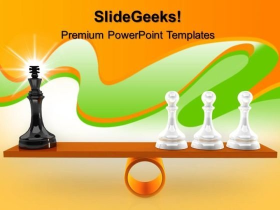 Chessmen On Scales Game PowerPoint Templates And PowerPoint Themes 0612