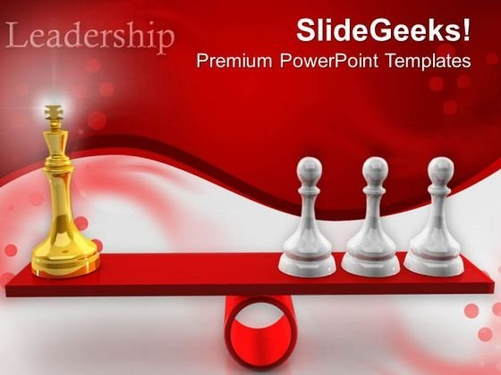 Chessmen On Scales People PowerPoint Templates And PowerPoint Themes 0512