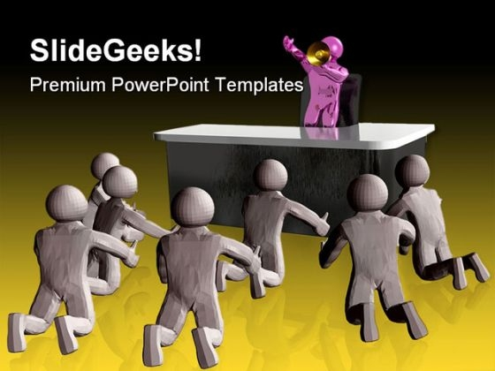 Chief Leadership Business PowerPoint Templates And PowerPoint Backgrounds 0511